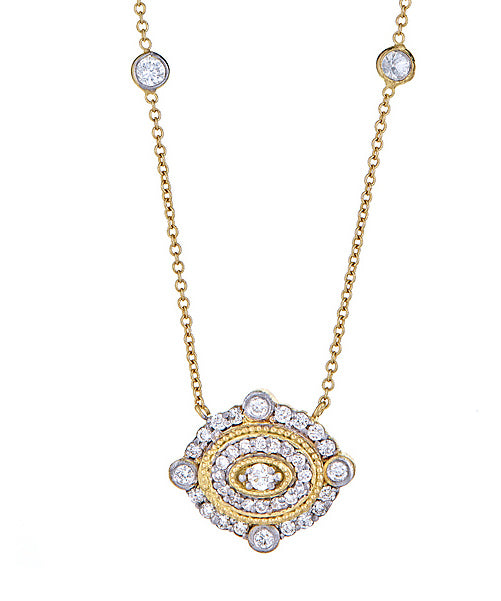 Diamond Oval Deco Pendant