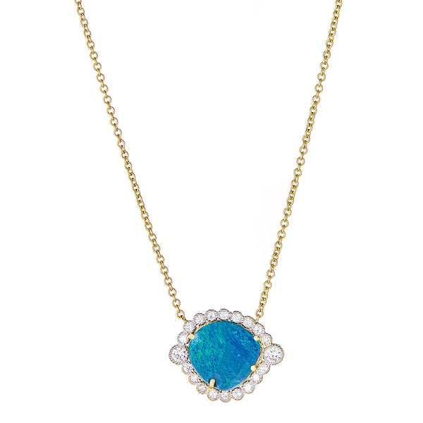 Diamond Opal Deco Pendant