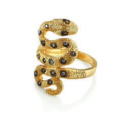 Champagne Diamond Snake Wrap Ring