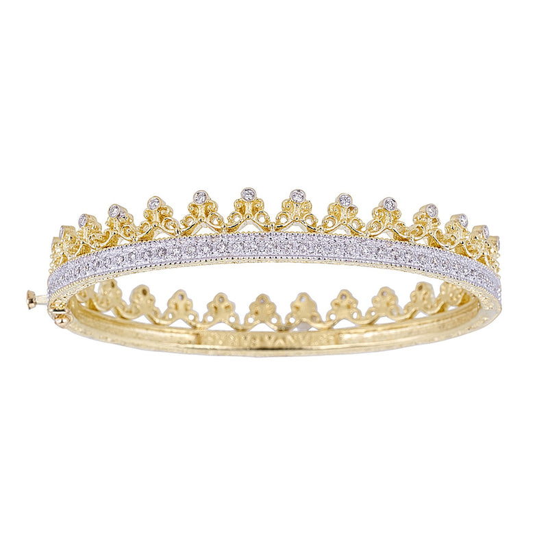 Tanya Farah Fine Jewelry | Diamond Crown Pave Bangle