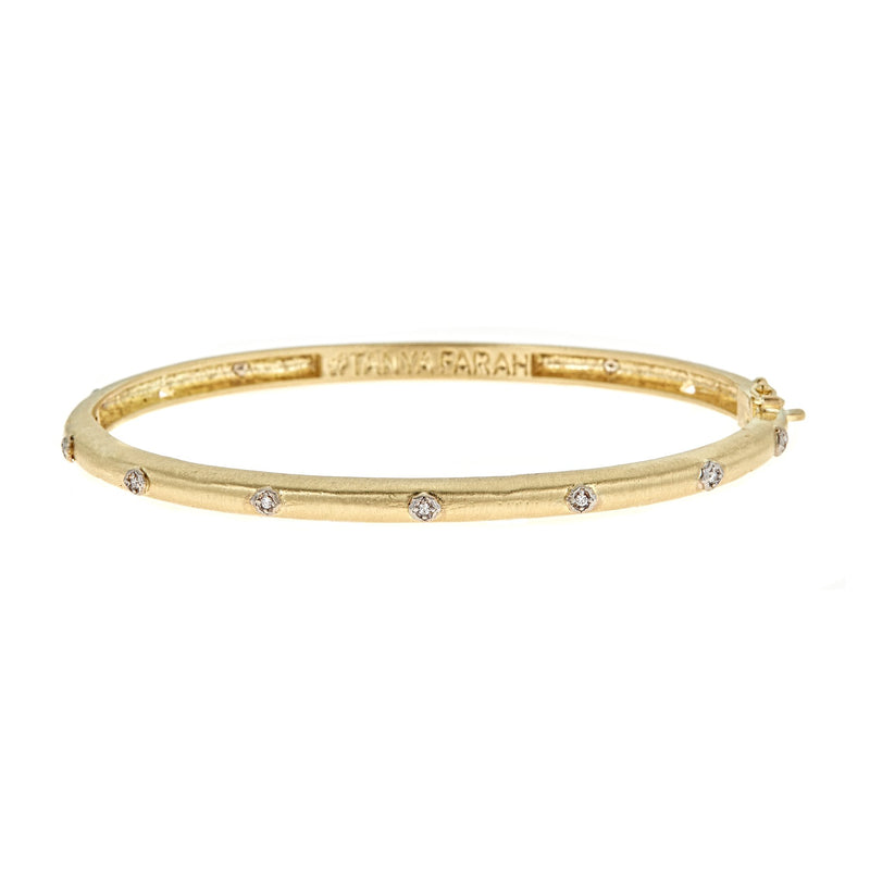 Tanya Farah Fine Jewelry | Diamond Cloud Petite Cutout Bangle