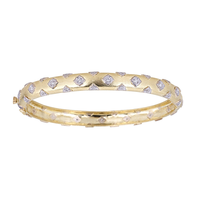 Tanya Farah Fine Jewelry | Diamond Cloud Scatter Cutout Bangle