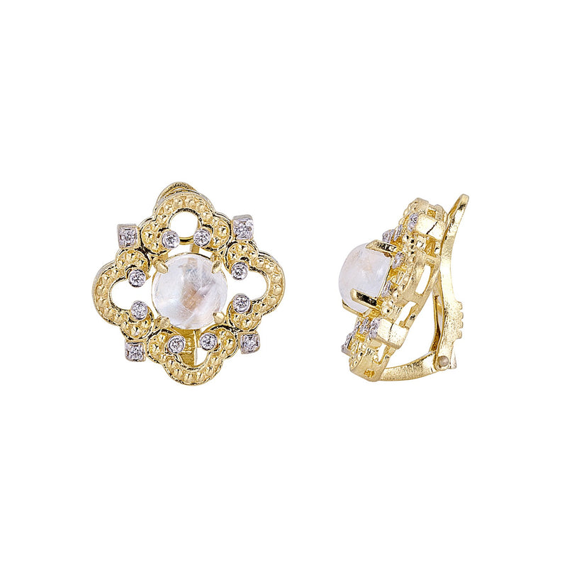Tanya Farah Fine Jewelry | Diamond Accented Cloud Earrings