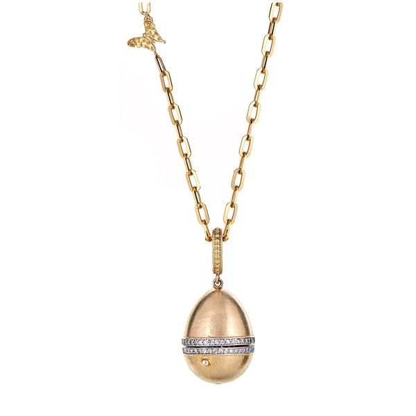 Tanya Farah Fine Jewelry | Large Plain Egg with Diamond Band