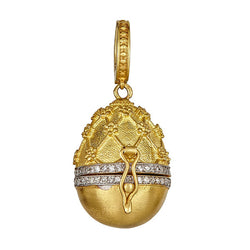Tanya Farah Fine Jewelry | Diamond Net Top Egg Necklace