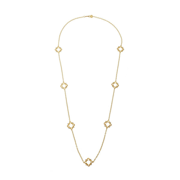 "Tanya Farah Fine Jewelry | 32"" Diamond Cloud Station Necklace"
