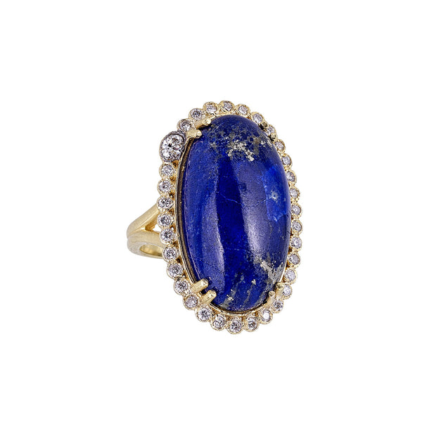 Tanya Farah Fine Jewelry | Lapis Marie Antoinette Diamond Halo Cocktail