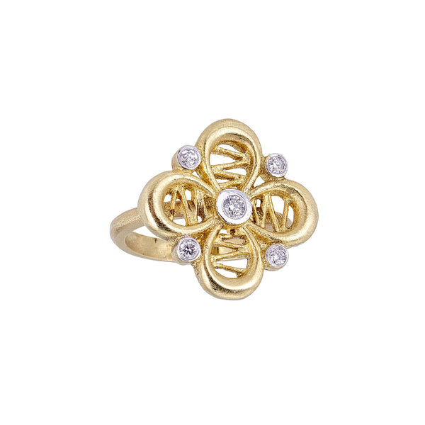 Tanya Farah Fine Jewelry | Diamond Passion Flower Large Ring