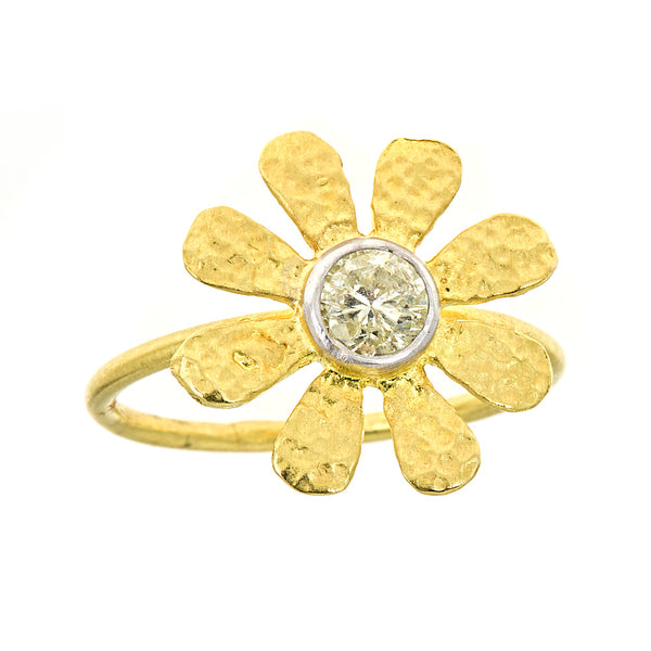 Diamond Sunflower Ring