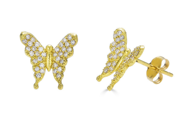 Diamond Butterfly 'Transformation' Studs