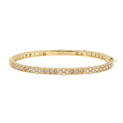Champagne & White Diamond Eternity Cluster Bangle