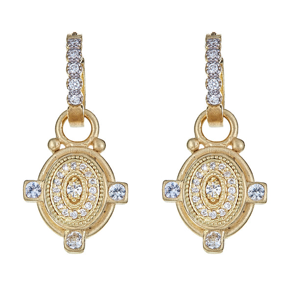 Diamond Oval Deco Ear Charms