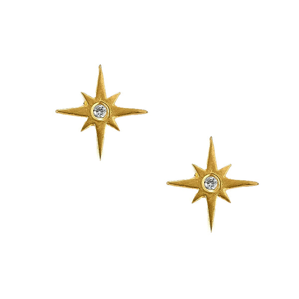 Tanya Farah Fine Jewelry | Diamond North Star Stud Earrings