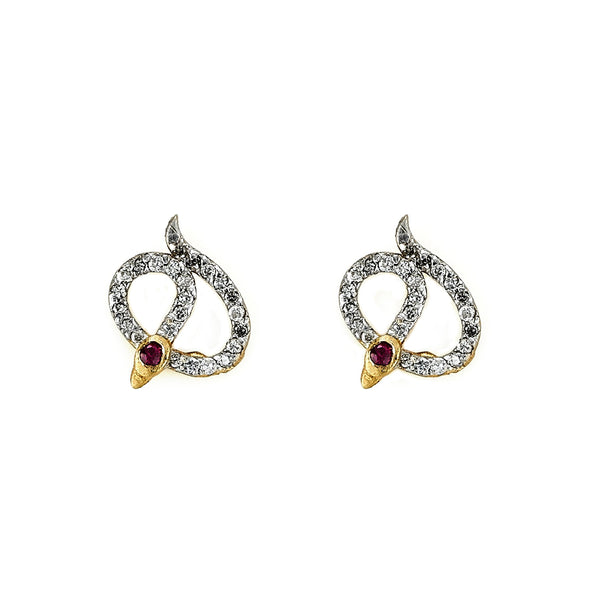 Tanya Farah Fine Jewelry | Diamond Snake Earrings