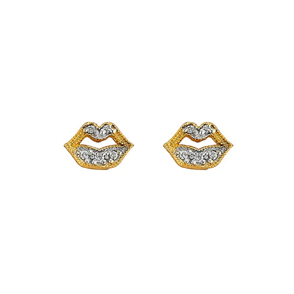 Tanya Farah Fine Jewelry | Diamond Lip Stud Earrings