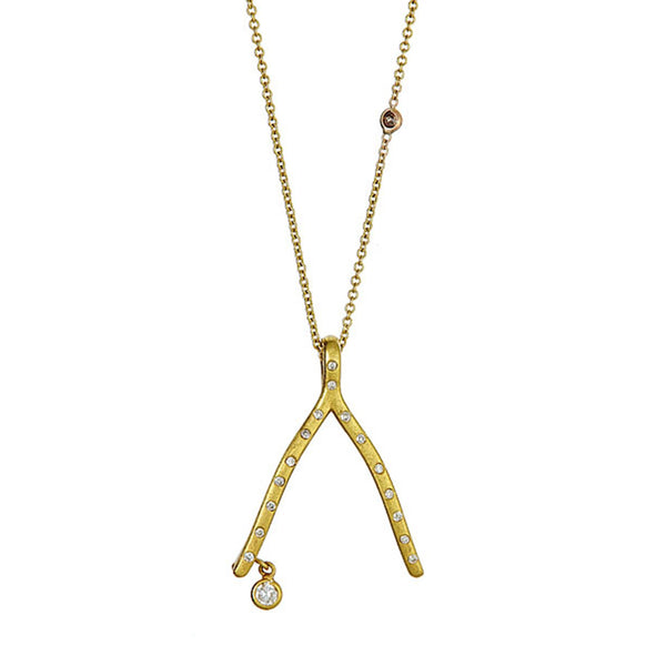 Tanya Farah Fine Jewelry | Diamond Wishbone Pendant