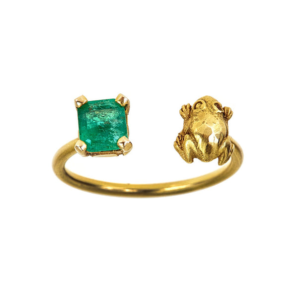 Tanya Farah Fine Jewelry | Diamond Frog Emerald Ring