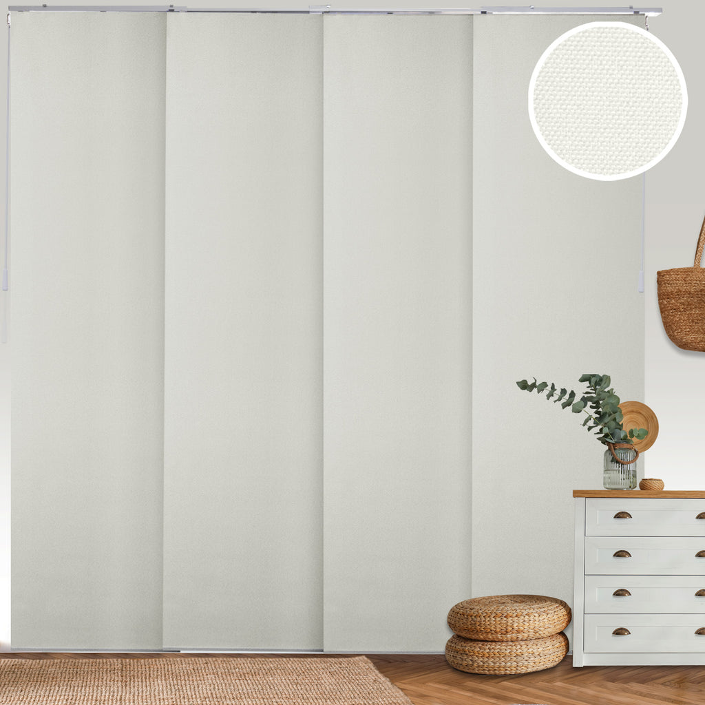 Adjustable Sliding Panels | 4-Rail Track | Blackout Room Darkening Fabric