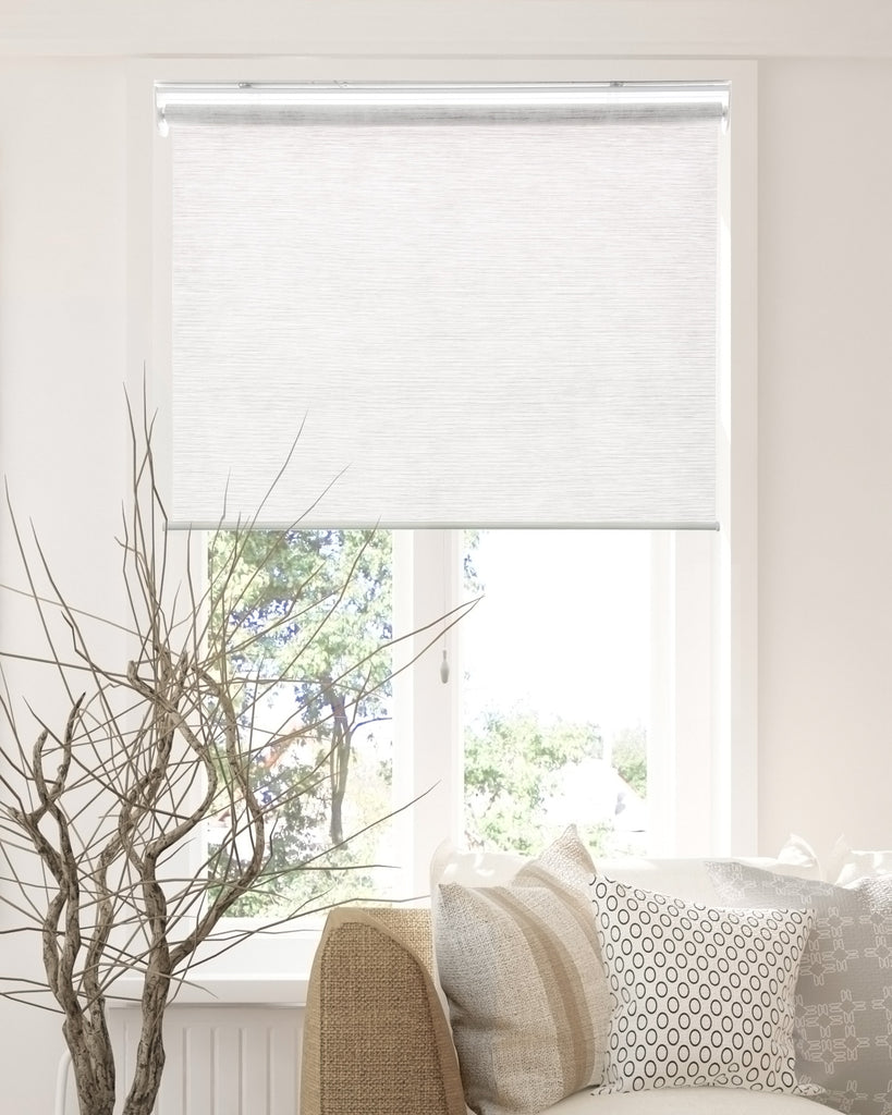 Cordless Roller Shades Natural Woven Felton Collection Chicology