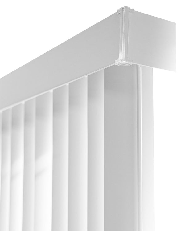 "Chicology Vertical Blinds Oxford White / 78""W X 84""H Vertical Blinds, Room Darkening VBOW7884"