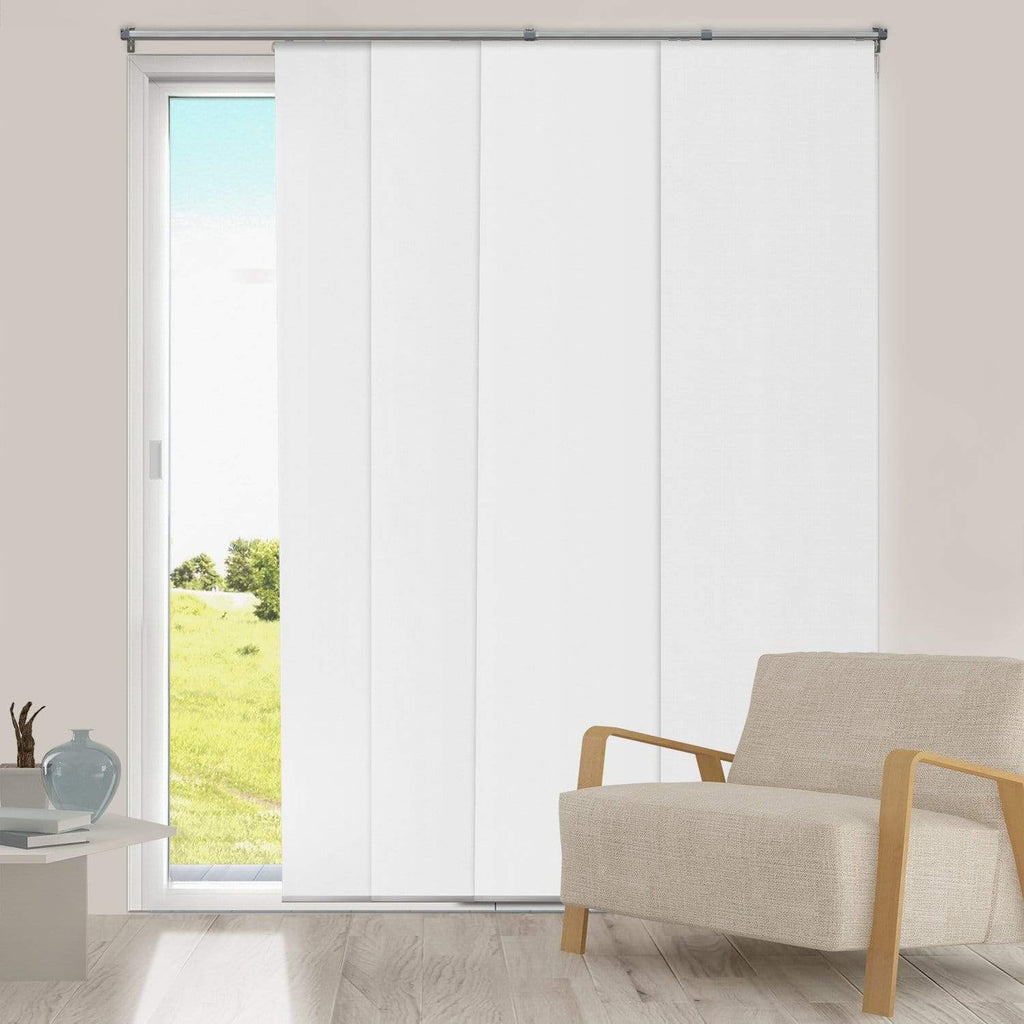 "Chicology Panel Track Blinds Mountain Snow / Up to 80""W X 96""H Adjustable Sliding Panels, Room Darkening DRSPMS1"