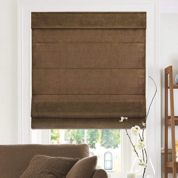 "Chicology Roman Shades Belgian Chocolate / 23""W X 64""H Cordless Roman Shades, Belgian RMBC2364"