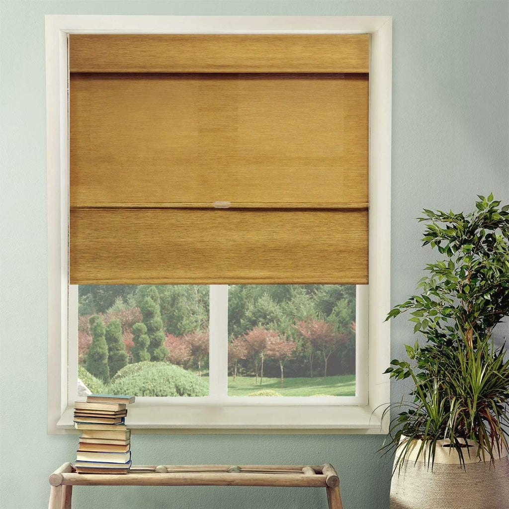 "Chicology Roman Shades Jamaican Antique Gold / 23""W X 64""H Cordless Magnetic Roman Shades, Jamaican RMJA2364"