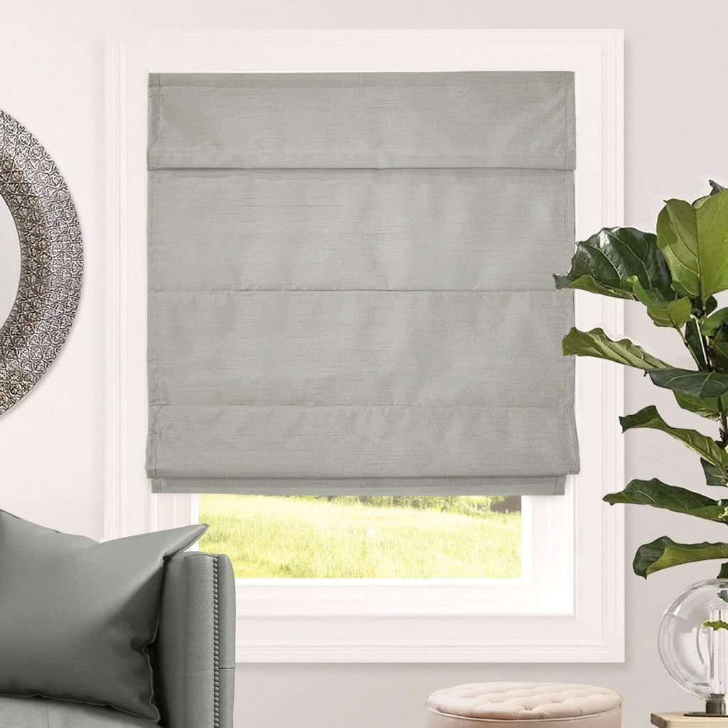 "Chicology Roman Shades Lux Stone / 23""W X 64""H Cordless Roman Shades, Lux RMLS2364"