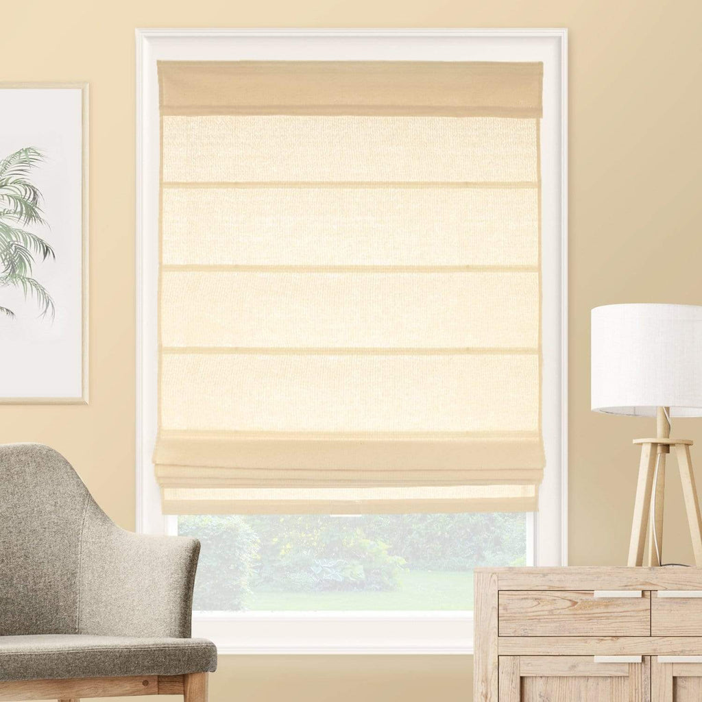 Cordless Roman Shades Light Filtering La Playa Sand 21 W X 64 H Chicology