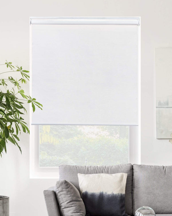 "Chicology Roller Shades Byssus White / 21""W X 72""H Cordless 
