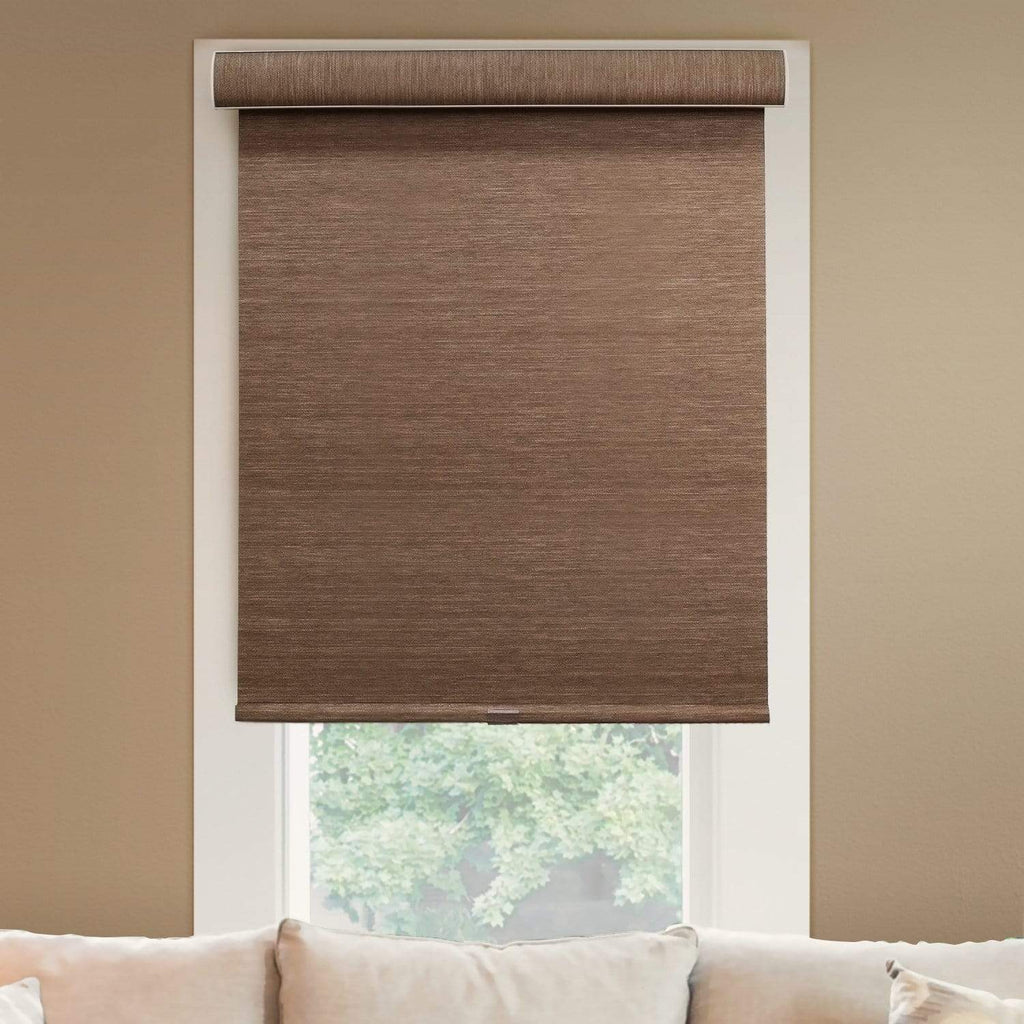 Cordless Roller Shades Natural Woven Felton Truffle 20 W X 72 H Chicology