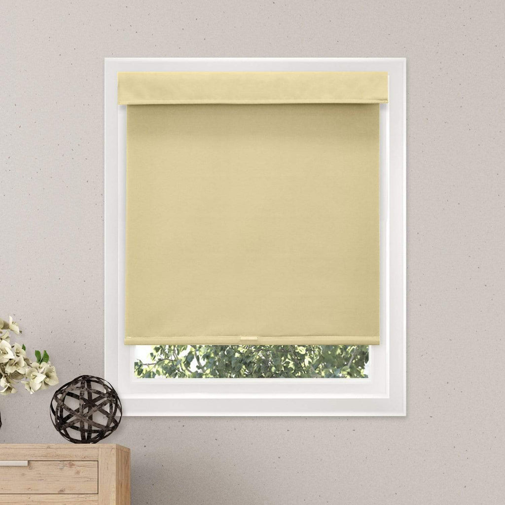 "Chicology Roller Shades Mountain Almond / 23""W X 72""H Cordless Roller Shades, Close Out RSMA2372"