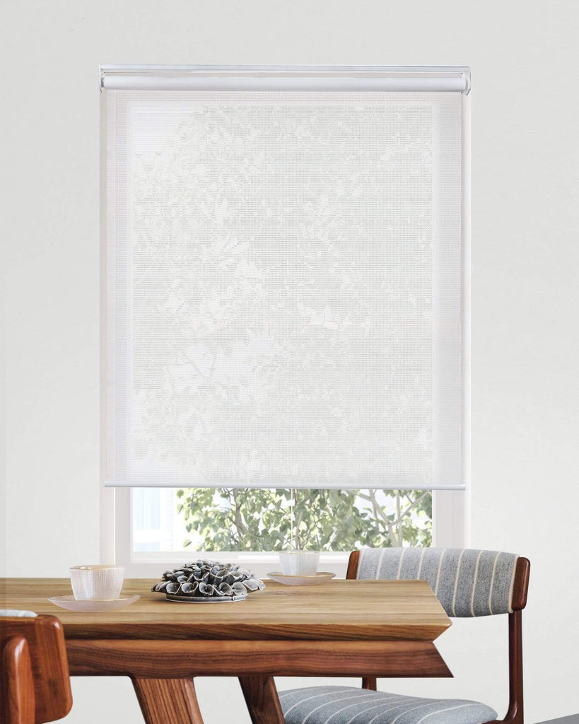 Cordless Roller Shades Solar View Tiful White 23 W X 72 H Chicology