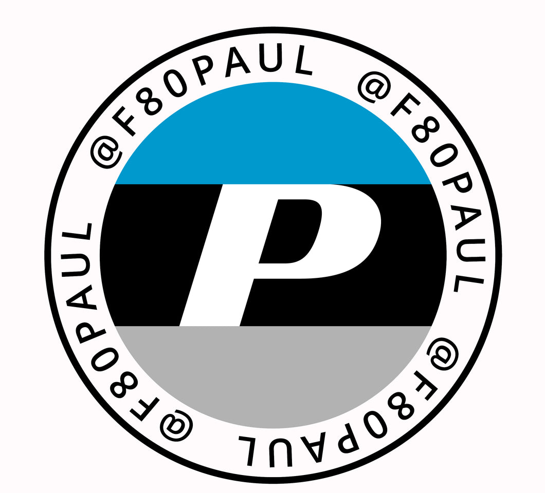 F80Paul Round Window Decal 3
