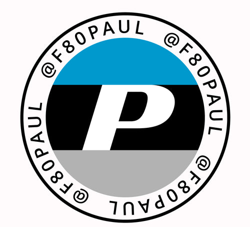 F80Paul Round Window Decal 4