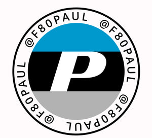 F80Paul Round Window Decal 4""