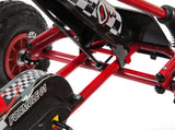 Rubber Wheel Red and Black Pedal Go Kart