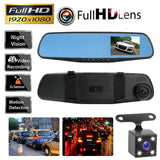 HD Front and Rear View Dash Camera With Night vision