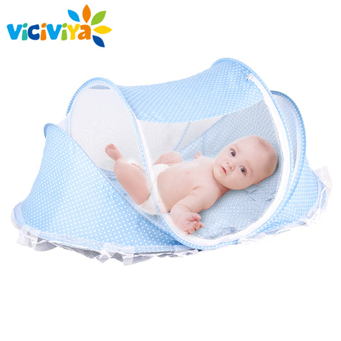 Viciviya Baby Portable Foldable Travel Cot - Blue