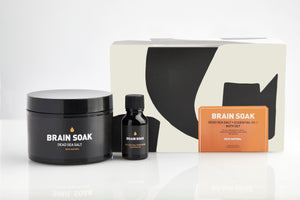 Bath Salt + Essential Oil Set BRAIN SOAK