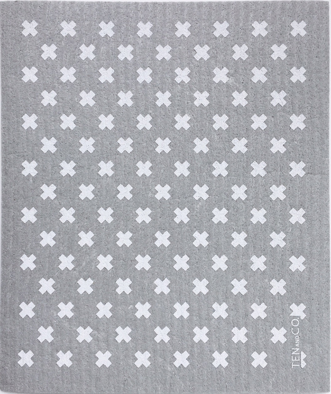 Sponge Cloth TINY X Grey