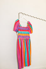 Load image into Gallery viewer, Vintage Striped Peasant Dress