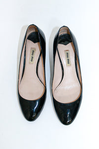 Miu Miu Black Patent Pump