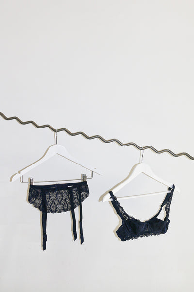 Vintage Yves Saint Laurent Bra and Garter