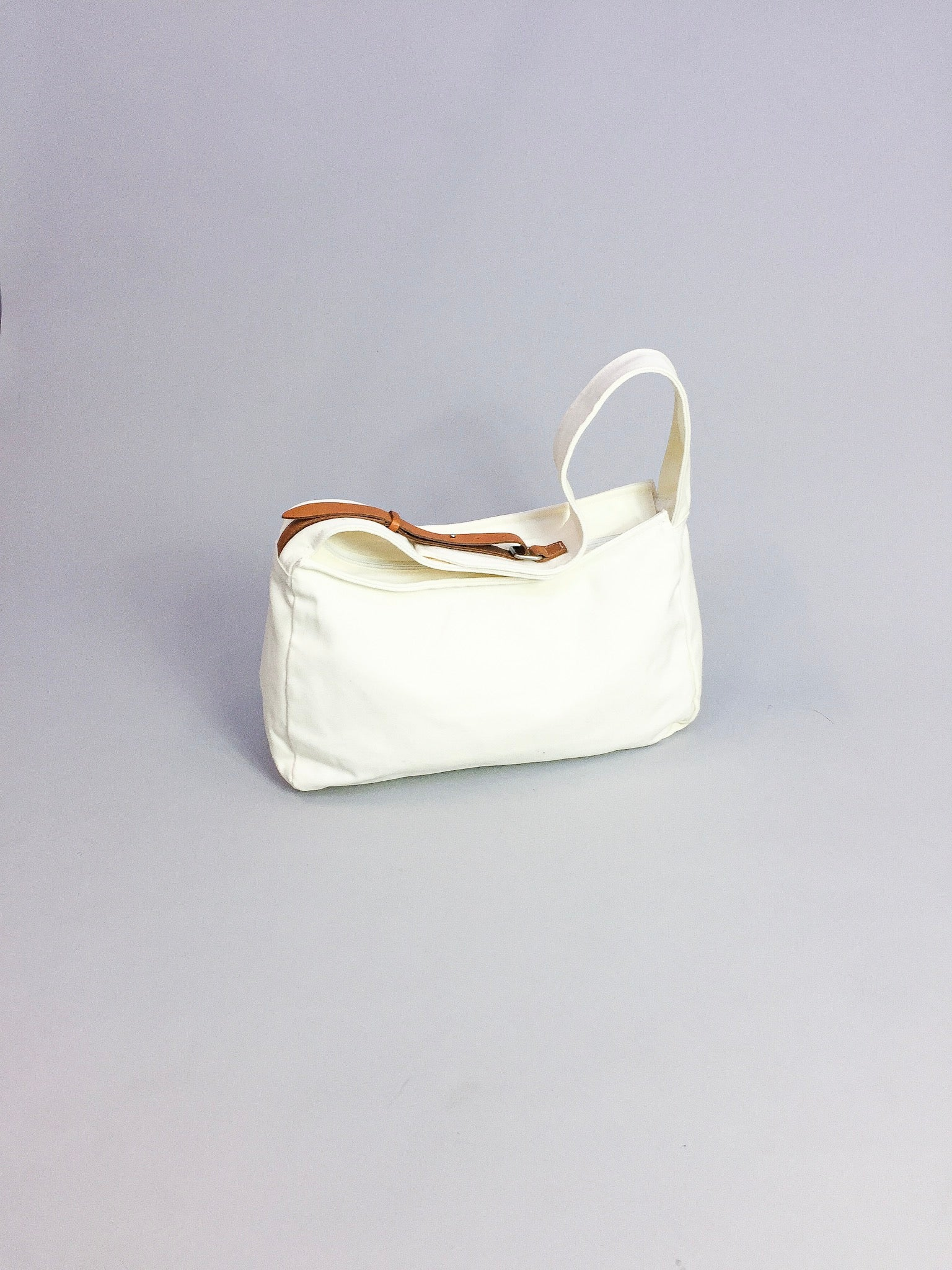 Y's White Canvas Satchel