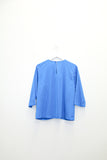 Vintage Blue Silk Blouse