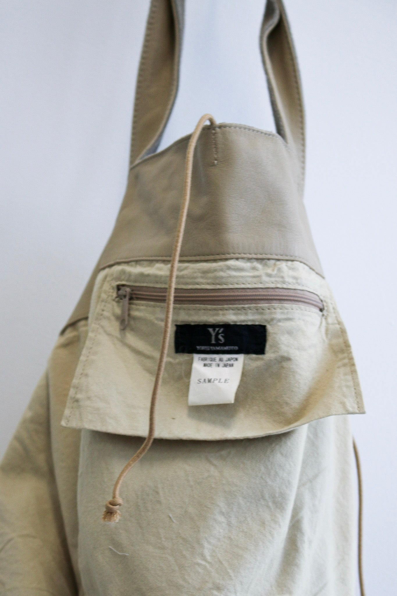 Y's Suede And Leather Bag