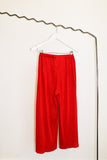 Pleats Please by Issey Miyake Red Wide Leg Trousers