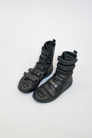 Ann Demeulemeester Leather High Trainers