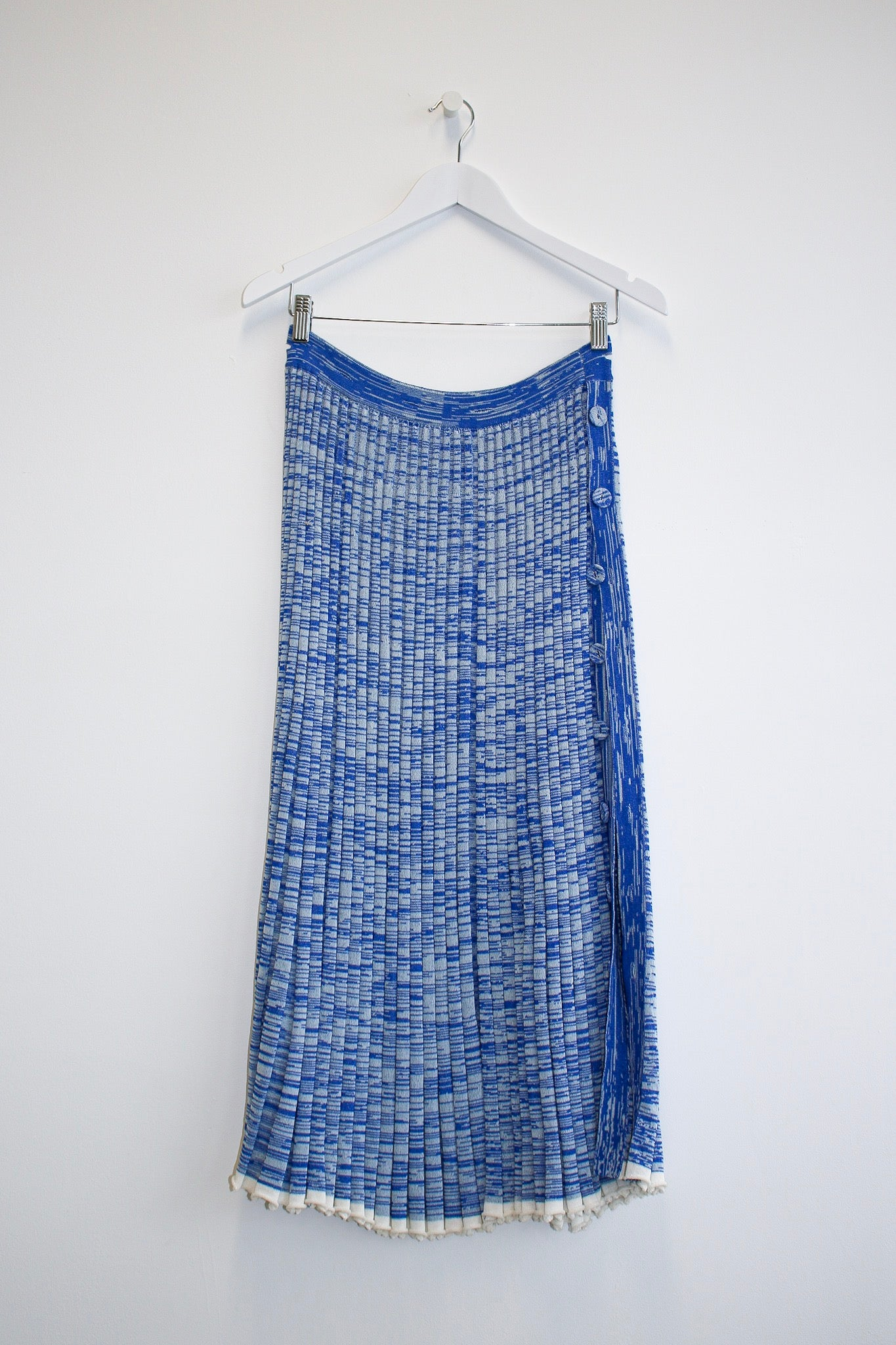 Christopher Esber Deconstructed Knit Set in speckled blue